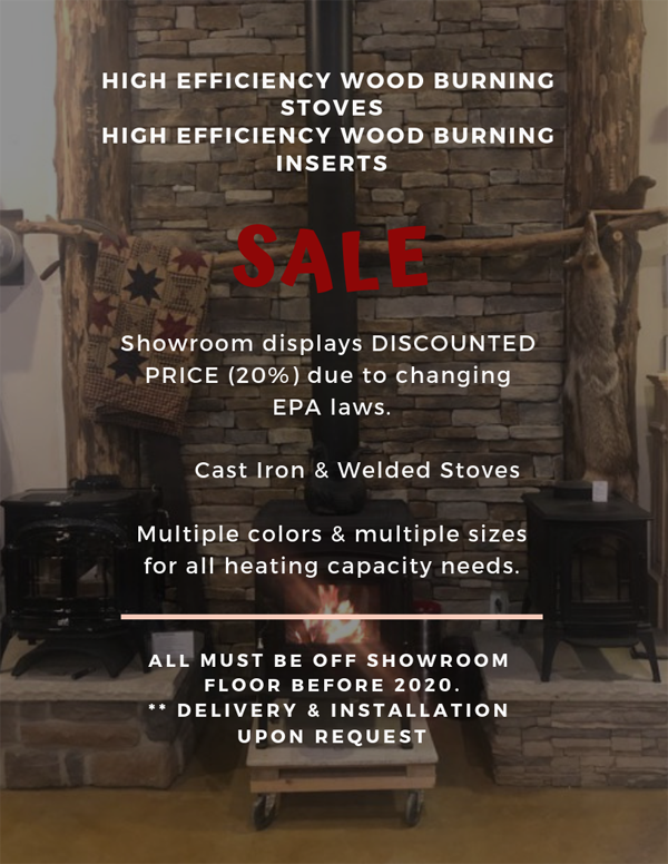 High Efficiency Woodburning Stoves & Inserts Discounted at Wiegmann Woodworking & Fireplaces in Damiansville IL