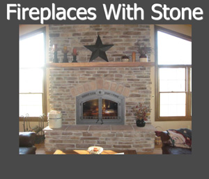 Wiegmann Woodworking & Fireplaces Carries Fireplaces, Logsets, Stoves & Inserts That are Fitted into Custom Stonework