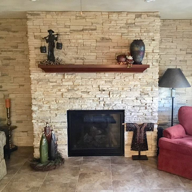 Wiegmann Woodworking & Fireplaces Carries a Large Array of Veneered Stone and Real Stone